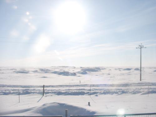 中国の北 内モンゴルは極寒の地